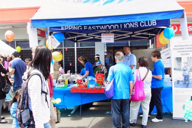 Granny Smith Festival market stall by Lions Club of Epping Eastwood