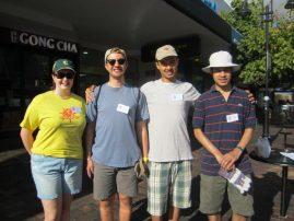 Leo members on Clean Up Australia Day