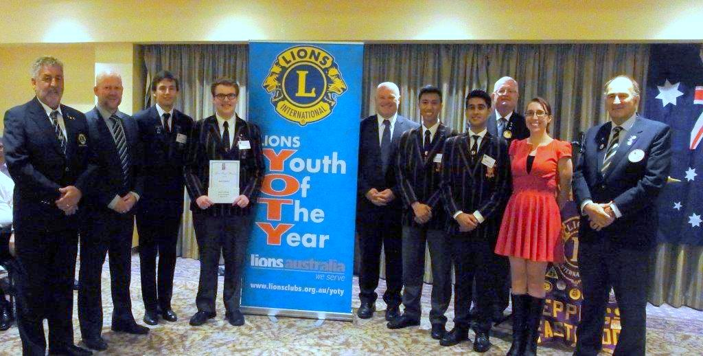 Youth of the year entrants and organisers